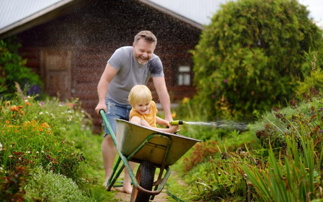 Le jardin, peut également servir pour les enfants !